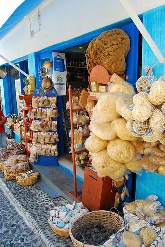 Tienda de esponjas de Fira