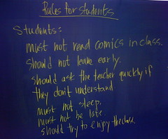 Rules for Students Fall 2009-2