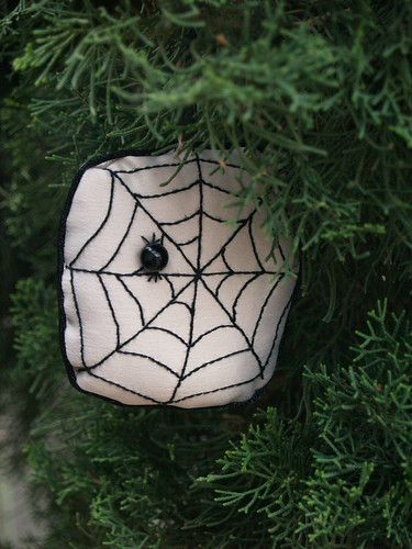 Stuffed Spiderweb Ornament