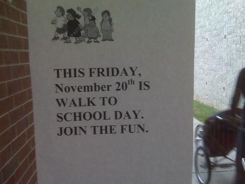 Walk to School Day in Crozet - 20 November 2009