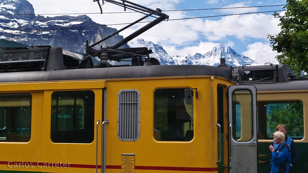 Berner Oberland Bahn en Lauterbrunnen