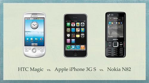 HTC Magic vs iPhone 3G S vs Nokia N82