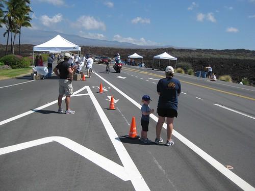 2009 Ironman® - Big Island Hawaii.  Mauna Lani waypoint.