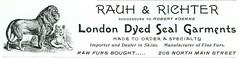 Rauh & Richter London Dyed Seal Garments, Butt...