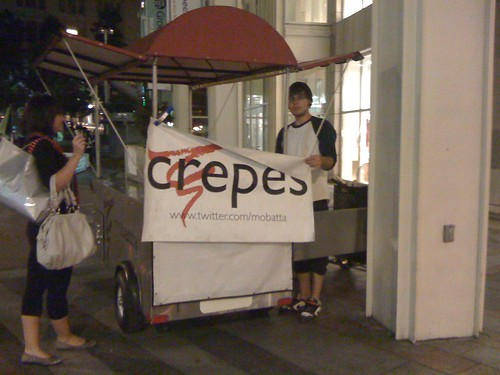 Crepe cart in Seattle