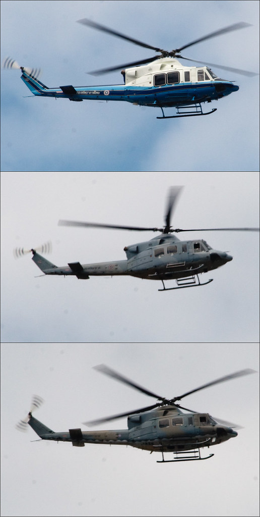 Royal Thai Air Force Bell 412 Helicopters