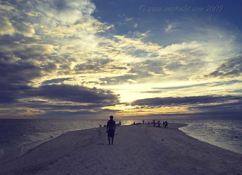 Going home at sundown, White Island, Camiguin