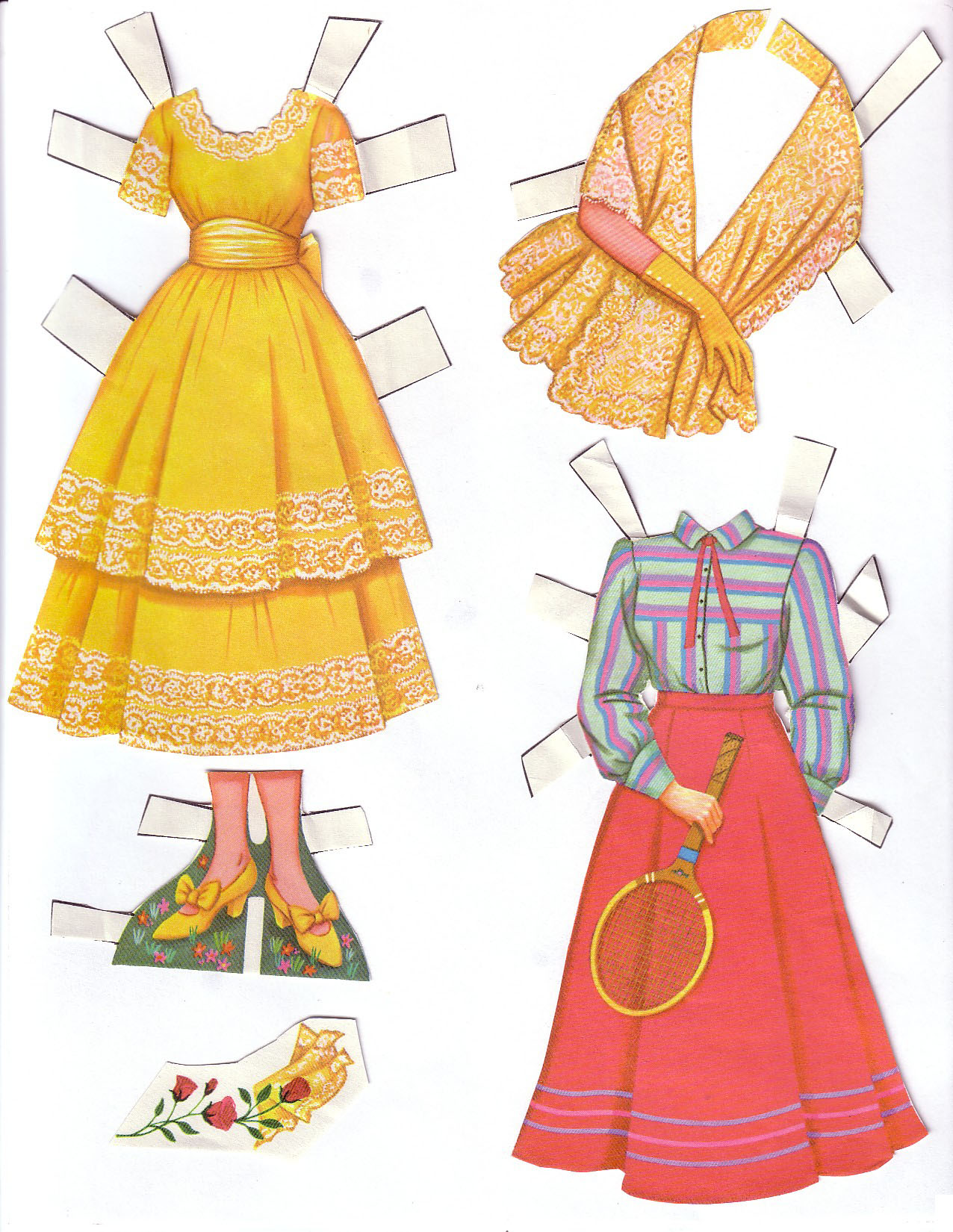 Hayley Mills - Summer Magic paper doll set (1963) 003