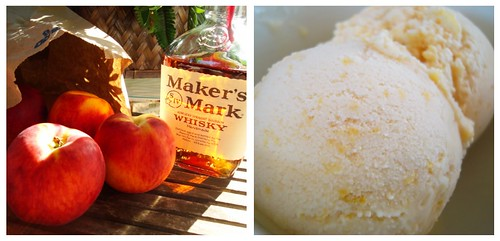 Bourbon Peach Ice Cream