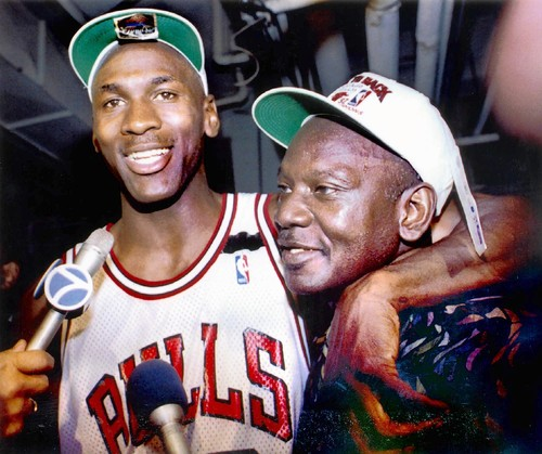 The Greatest Of All Time with his dad James Jordan, Sr.