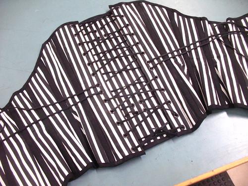 striped corset - lacing
