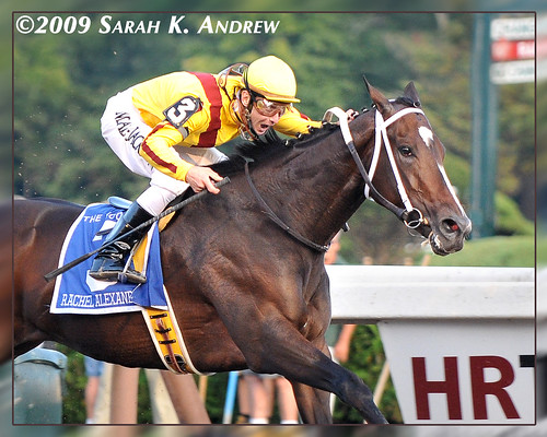 Rachel Alexandra and Calvin Borel win the Grade 1 Woodward Stakes