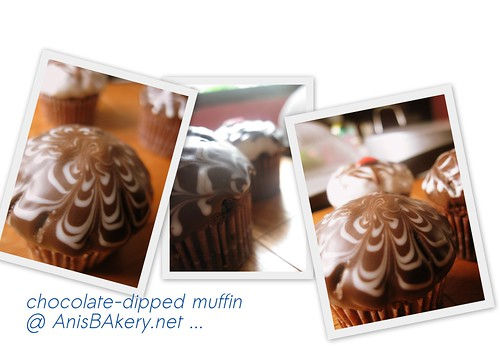 chocolate dipped muffin @ anisbakery.net.net