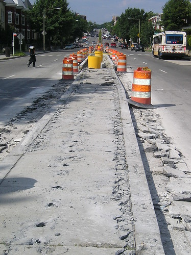 New Hampshire Ave Median work