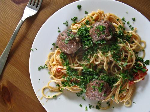 pzgetti & meatballs