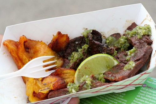 Marinated Skirt Steatk w/ Sweet Plantains