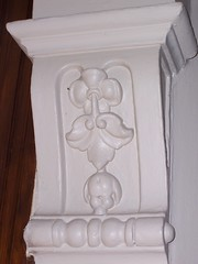 Carving in a doorway at the Marshall House