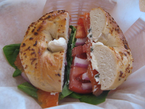 Lox special from Beans & Bagels