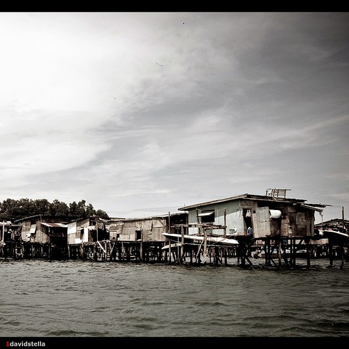 water village at pulau gaya