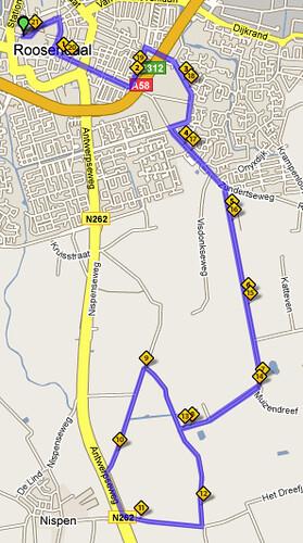 Parcours Halve Marathon Roosendaal