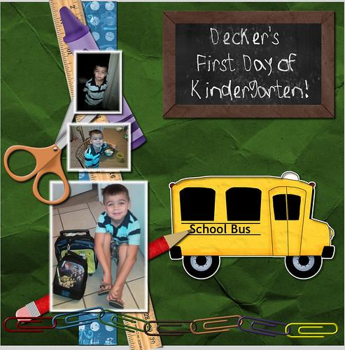 Decker's 1st day of kindergarten