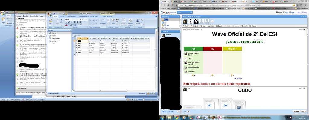 Los dos escritorios. Click para ampliar