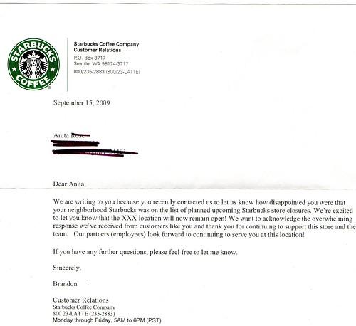 Letter I got today.