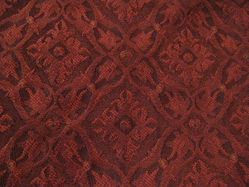Yummy Burgundy Brocade