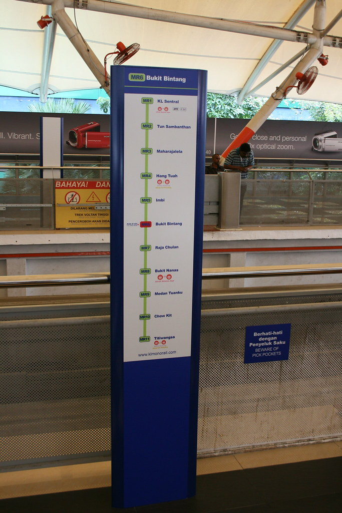 new signage at Bukit Bintang monorail station