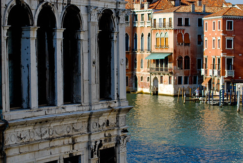 Blick von der Rialtobrücke, Venedig.