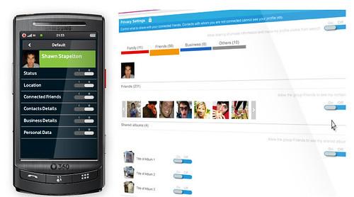 Vodafone 360 Screenshots - Privacy management
