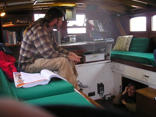 Schooner Adventuress' pilothouse