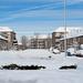 La calle cubierta de nieve