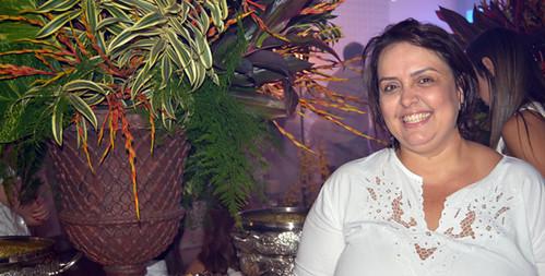 Geovana Franco levou seu buffet para servir delícias