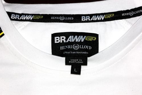 Etiqueta de Playera Brawn GP