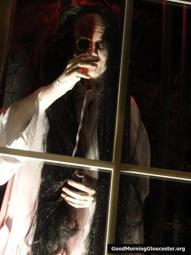 Joke Shop USA Halloween Window Display