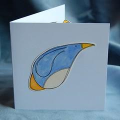 penguin pop-up card PF07 a