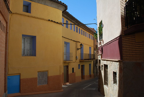 Newly painted houses in Spanish village