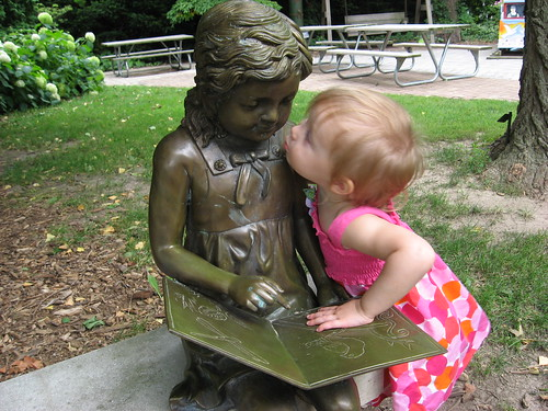 Kissing our new friend