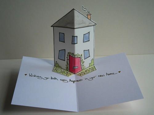 new home - pop up card