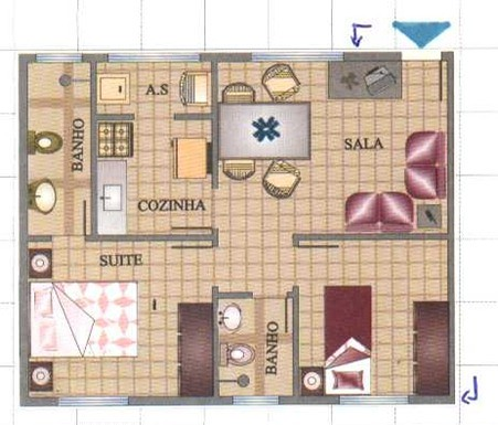 plantas de casas pequenas e modernas
