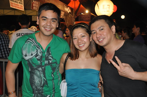 Jm Rodriguez, Cat Arambulo and Ronald Singson in ZoukOut 2009 Party Singapore