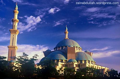 The Federal Territory Mosque. Shot on Fujichrome Provia 100F circa 2005