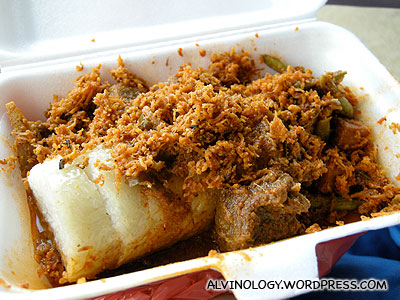 Mutton lontong - quite nice