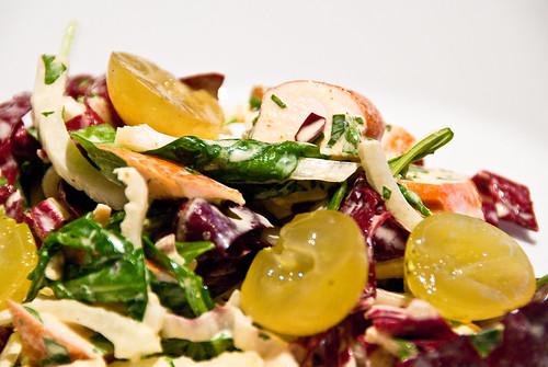 Smoked chicken breast salad