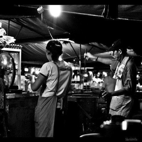 waterfront night market, Kota Kinabalu, Sabah.