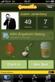 Gowalla, en typiskt sticky app ;)