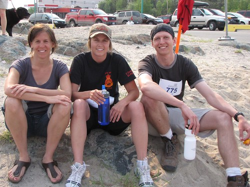 """Team Arthropod"" wins the team sprint at the Midnight Sun Triathlon!"