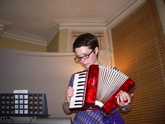 No accordions were harmed during the show, mores the pity