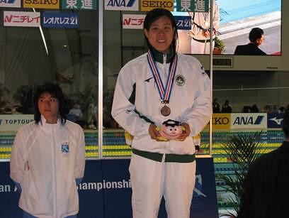 810馬卓薇在女子A組100米蝶泳獲銅牌並刷新澳門紀錄
